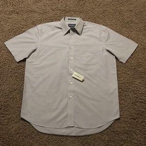 NWT Khaki Eddie bauer button down shirt